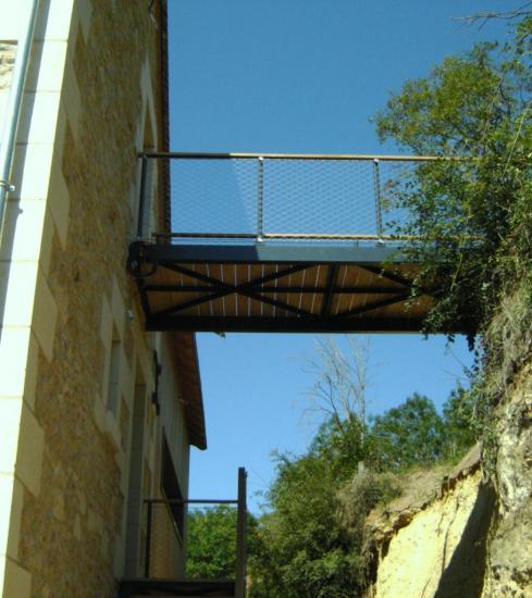 escalier et passerelle en cable acier inox 3. Black Bedroom Furniture Sets. Home Design Ideas